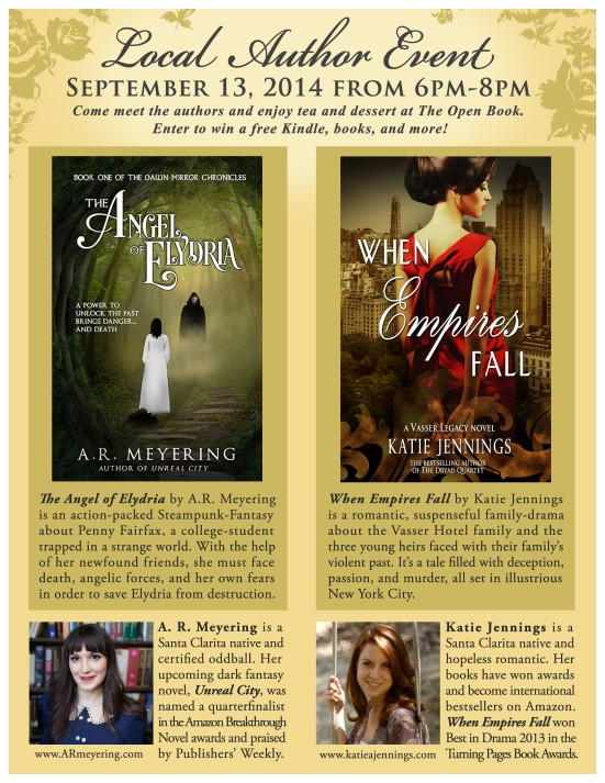 author event flier copy